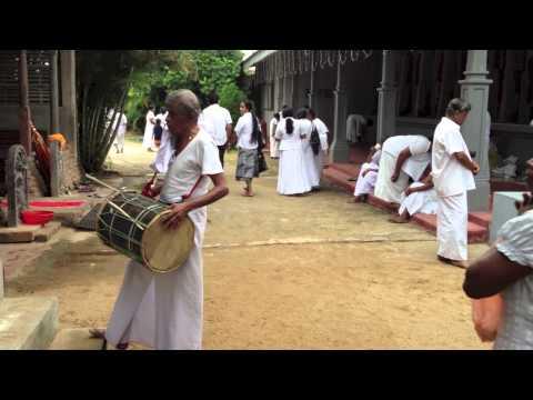 Buddhist Temple Sri Lanka video