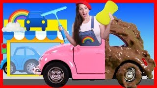 Car Wash with Mrs Rainbow | Learn Colors for Children