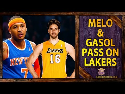 Lakers Rumors: Carmelo Anthony, Pau Gasol Pass On Lakers