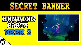 Fortnite Season 6 Week 2 Secret Banner Location | Hunting Party Challenge | Wailing Wolves