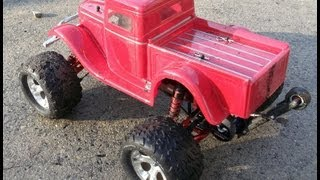 Traxxas Stampede - spare parts wheelie bar in action