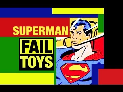 Superman DC Funny Fail Toy Review video by Mike Mozart of JeepersMedia