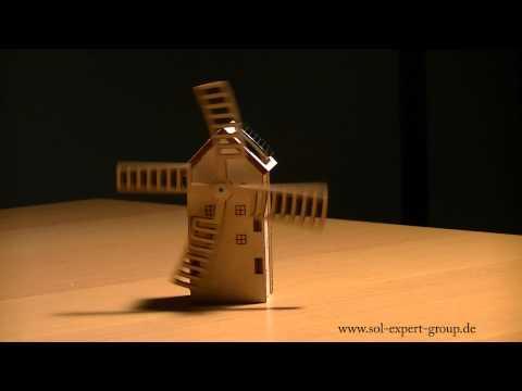 SOL EXPERT Mini Solar Windmühle