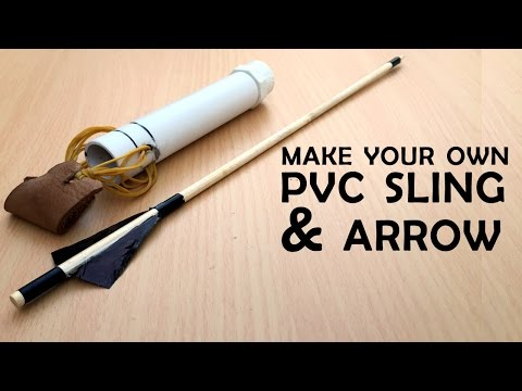 Homemade PVC Slingshot bow! What the HACK #5