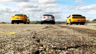 2011 Mustang GT vs 2010 Camaro SS vs 2010 Dodge Challenger SRT8.  HD-720