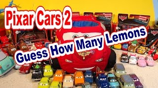 Disney Pixar Cars Lightning McQueen Carry Case, How Many Pixar  Cars2 Lemons in the Case !
