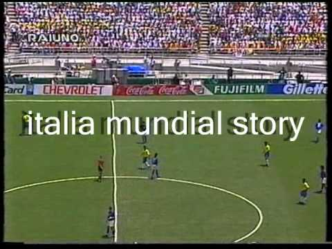 """Coppa del Mondo FIFA 'Usa 1994' - Finale Telecronaca primo tempo (commento Bruno Pizzul e Carlo Nesti) 17/07/1994 - Pasadena, """"Rose Bowl Stadium"""" ITALIA-Bras..."""