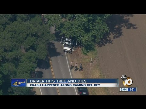 1 dead after vehicle hits tree in Bonsall area