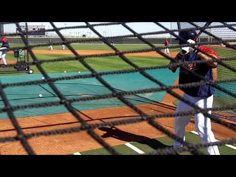 Cleveland Indians Shin-Soo Choo Hitting BP At Spring Training 3.16.10 Video