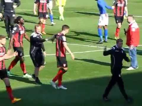 Post-match pitch walk AFCB v Birmingham 6 April 2015