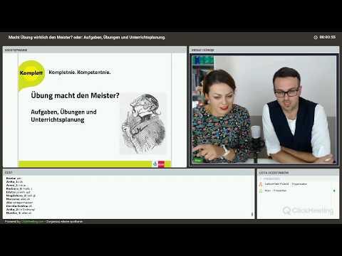 Webinarium Klett: Macht Übung Wirklich Den Meister? Oder: Aufgaben, Übungen Und Unterrichtsplanung