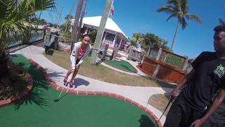 MINI GOLF DAY *HUGE ACCIDENT GOLF BALL WENT FLYING*