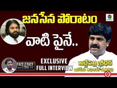 Addepalli Sridhar Full Interview | Pawan Kalyan #Janasena Spokes Person | Face To Face With SCubeTV