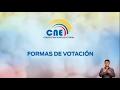 El CNE informa sobre las formas de votación