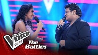 The Battles : Pravindya Geesarani v Deshan Rasitha | Heenayaki Mata Adare | The Voice Teen Sri Lanka