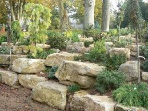 How to make a beautiful garden rockery and crazy paving pathway