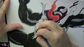 Dibujando a: Spiderman Vs Venom