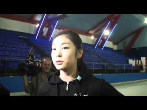 Yuna Kim at ice rink in Durban, South Africa - supporting PyeongChang 2018 Olympic bid