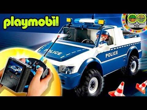 Coche POLICÍA PLAYMOBIL 5528 RC con cámara para grabar vídeos y pantalla TV. Policía Playmobil.