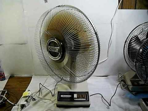 picture of 1980 s Panasonic Brown Table fan