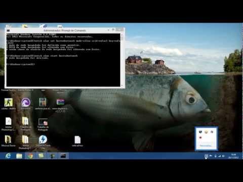 como criar rede AD HOC no windows 8
