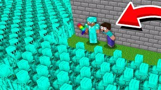 WHY 1000000 DIAMOND GOLEM ATTACK NOOB AND PRO BASE VILLAGE? Minecraft Noob vs Pro Animation