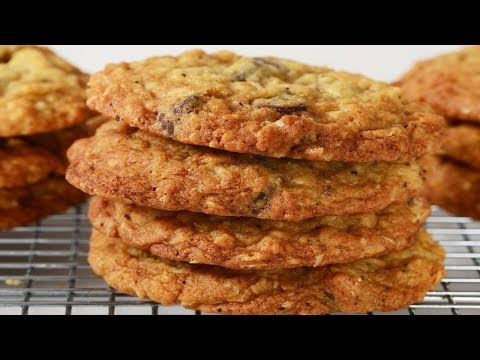 Crispy Oatmeal Cookies Recipe Demonstration - Joyofbaking.com
