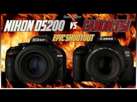 Nikon D5200 vs Canon T5i EPIC Shootout Comparison | Which Camera to Buy?