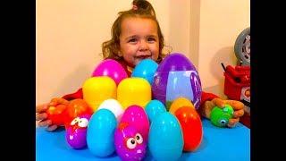 KID opening colorful  surprise egg toys, TEYA TV