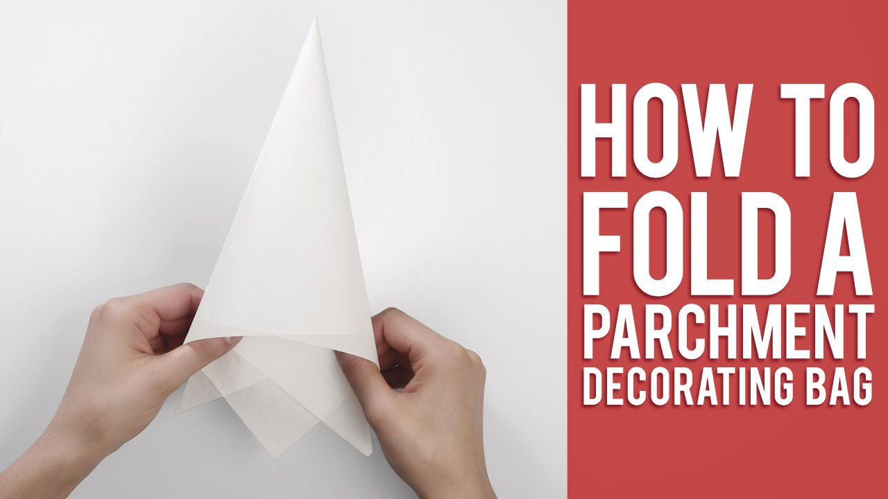 How To Make Cake Decorating Bags Out Of Wax Paper : Learn How to Fold a Parchment Bag for Piping - YouTube