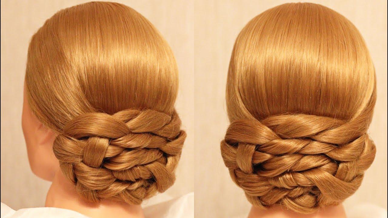 Причёска на основе плетения кос