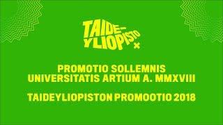 Taideyliopiston promootioakti 2018