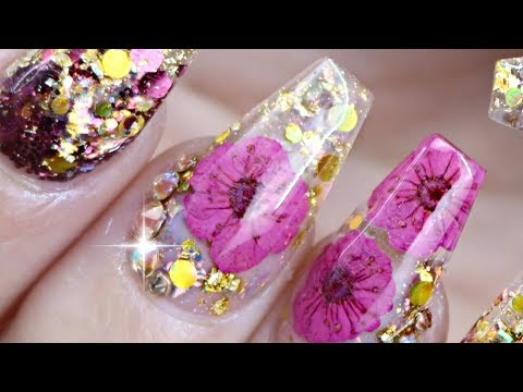 ENCAPSULATED NAILS | DRIED FLOWER NAIL TUTORIAL