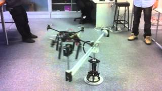 Flying Robot Testing Stand (BE Final Year Industrial Project)