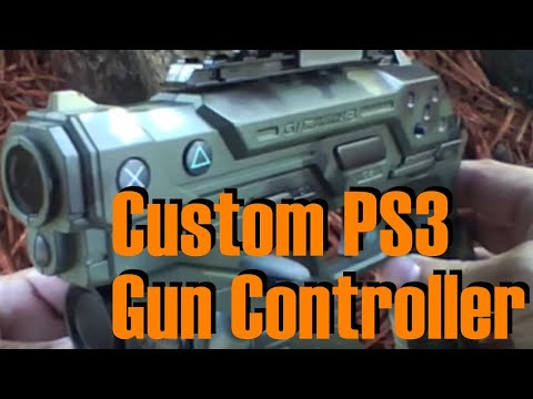 Custom PS3 Wireless Namco Gun Controller Call of Duty Style Mod