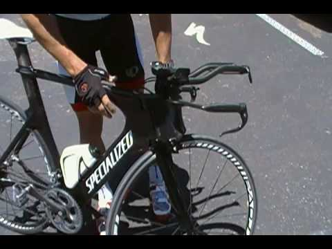 Coach Lee takes the Specialized Shiv for a spin.