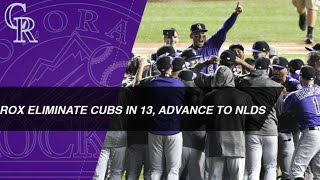 Rockies outlast Cubs in 13 innings, advance to NLDS