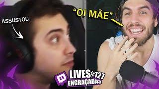 GANK DA MÃE E ALANZOKA TOMANDO SUSTO | LIVES ENGRAÇADAS #127