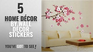 Top 10 Home Décor By Wall Décor Stickers [ Winter 2018 ]: Peach Cheery Blossom Plum Flower