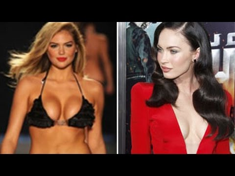 Top 10 Hottest Hollywood Celebrities BOOBS & More - Kate Upton, Rihanna, Megan Fox & More