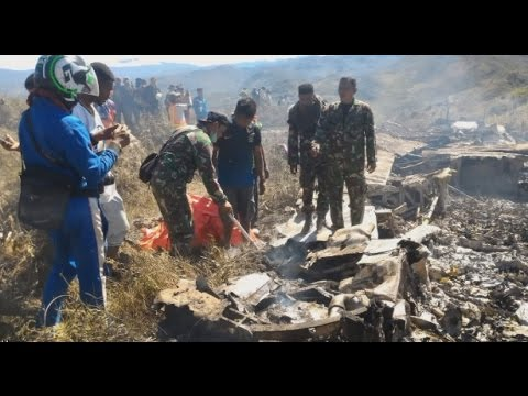 Breaking News: Kecelakaan Pesawat Hercules TNI AU, 13 Orang Tewas