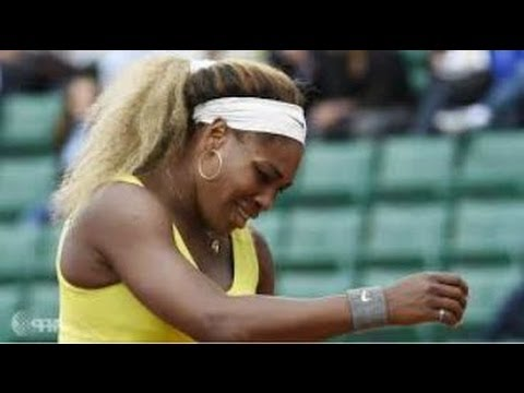 SERENA WILLIAMS Shocking Defeat to Garbine Muguruza 2014 French Open