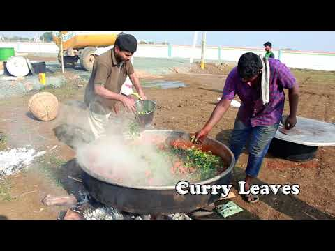 AMAZING!!! 100kg CHICKEN CURRY COOKING FOR 500 PERSONS   PARTY RECIPES