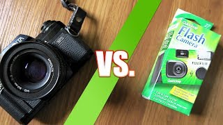 SLR vs. Disposable Camera
