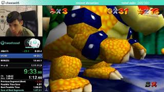 Super Mario 64 all 120 stars Non-Stop in 1hr 8m 10s (WR)