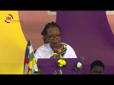 Prière et discours de la Présidente de la République Centrafricaine SEM. Catherine SAMBA-PANZA