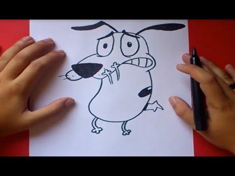 Como dibujar a Agallas el perro cobarde How to draw Agallas the Cowardly Dog
