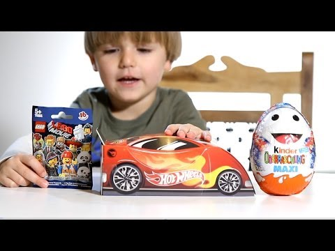 Lego The Movie - Kinder Valentine's Day Edition Maxi Egg - Hot Wheels Easter Egg - Angry Birds