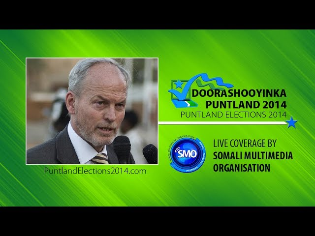 Puntland Elections: UN Rep. Nicholas Kay's speech after Dr Abdiweli won the Presidency