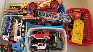 Cars for Kids: Five boxes full of cars